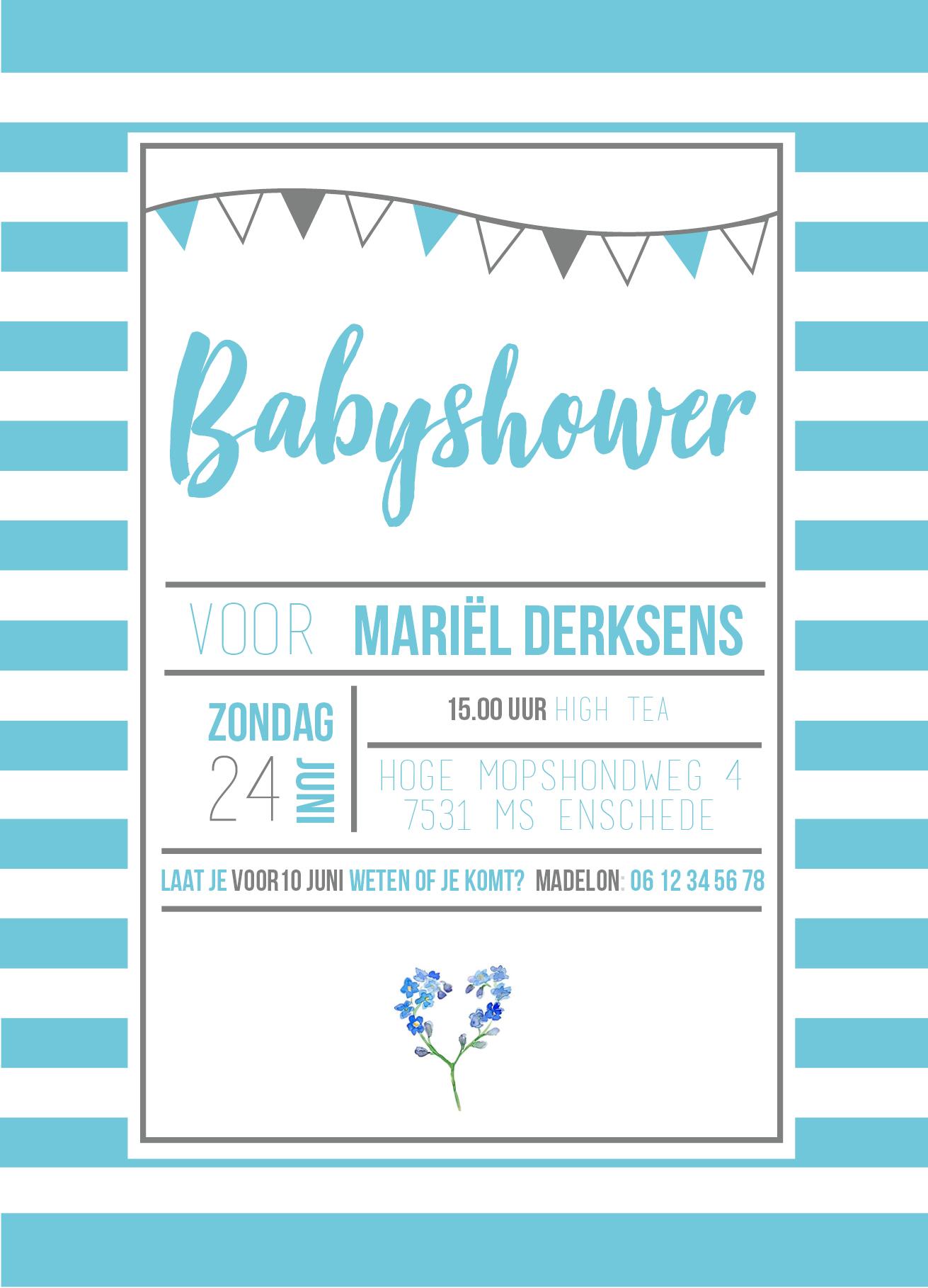 Favoriete How to: Een babyshower uitnodiging maken? - Accentable @AO37